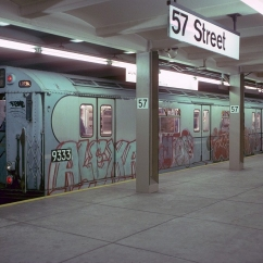 A 1976 photo of 57th Street, when it still served as a terminal station.