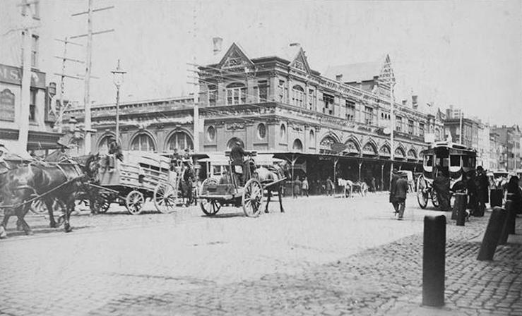 Side-Fulton Market-circa 1883
