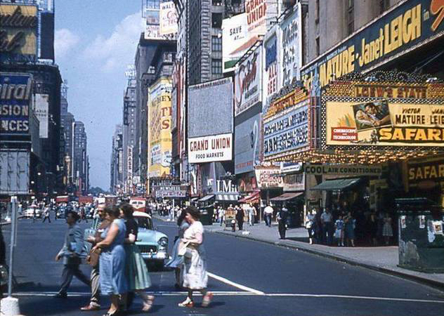 side-intro timessq-Loew's State Theatre 1956