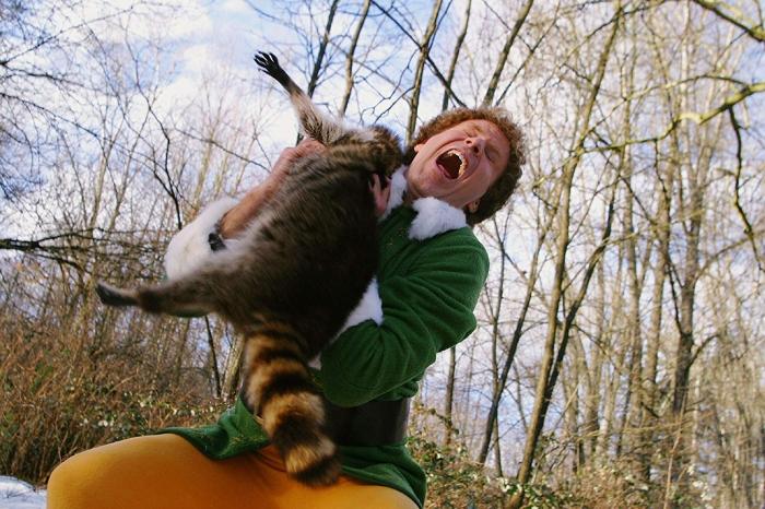 elf bts raccoon