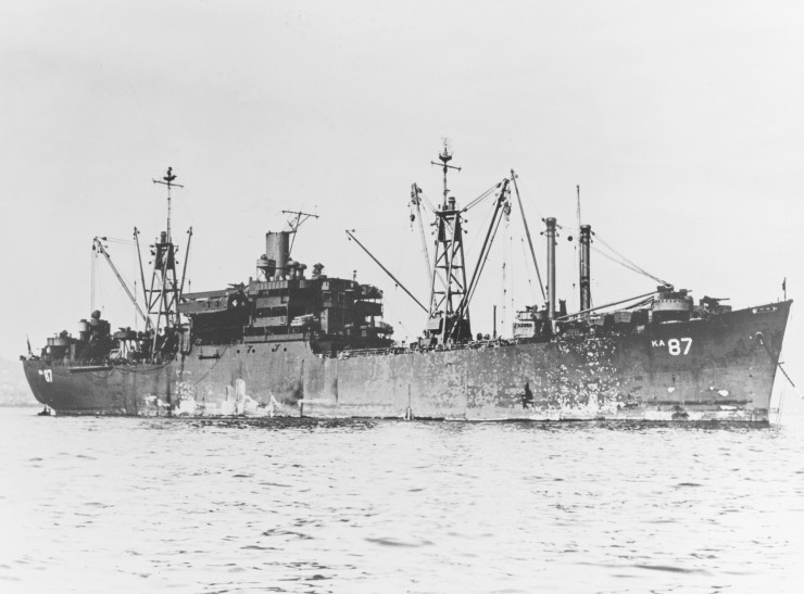 USS_Duplin_(AKA-87)_at_anchor,_circa_in_1945_(NH_78560)