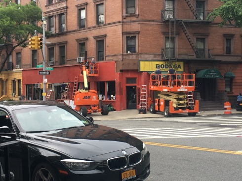 """What once was the location of the T&L Food Center in 1955 is being converted into a 1950s-style Bodega for the """"West Side Story"""" remake."""