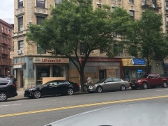 Across the street from the location of the T&L store is a 1950s-style Spanish laundromat.